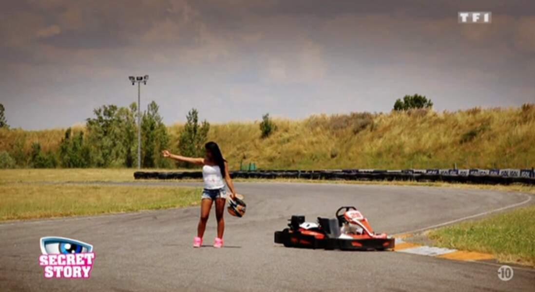 Karting, foot, elle n'hésite jamais à provoquer
