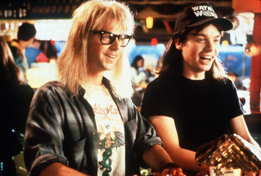 Mike Myers et Dana Carvey dans Wayne's World