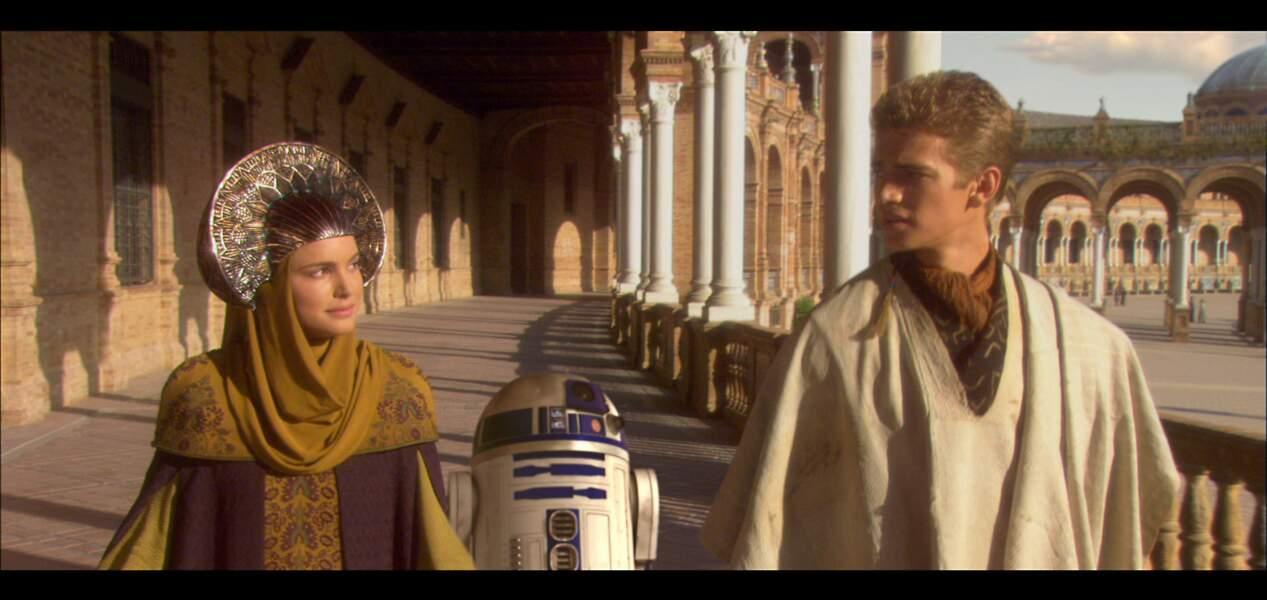Padmé et Anakin dans L'Attaque des clones (2002)