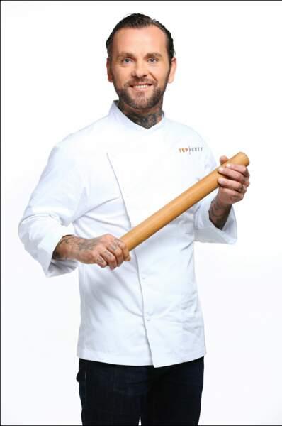 Voici Franck Radiu, 35 ans, chef de son restaurant dans l'Hérault