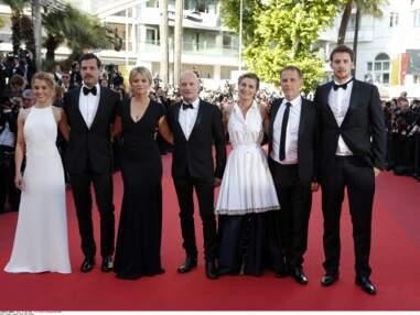Cannes 2016 : sublimes Virginie Efira, Alice Isaaz et Isabelle Huppert pour la montée des marches du film Elle