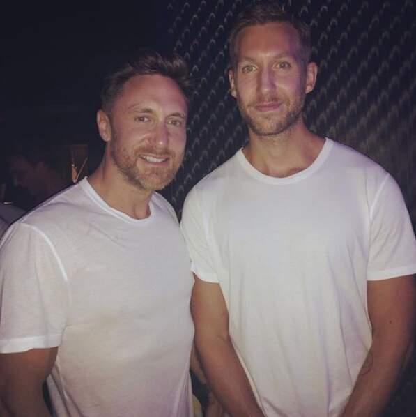 Pendant ce temps-là, David Guetta et Calvin Harris avaient le même fournisseur de t-shirts.