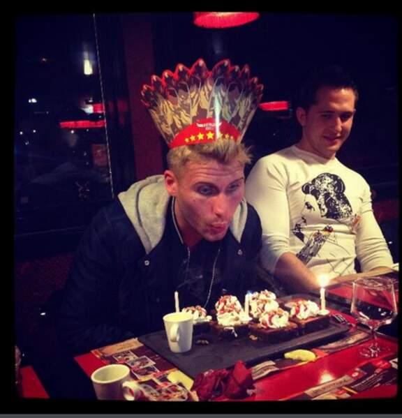 Benoît, qui fête ses anniversaires comme il se doit !