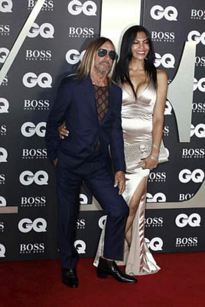 Le chanteur Iggy Pop et sa femme Nina