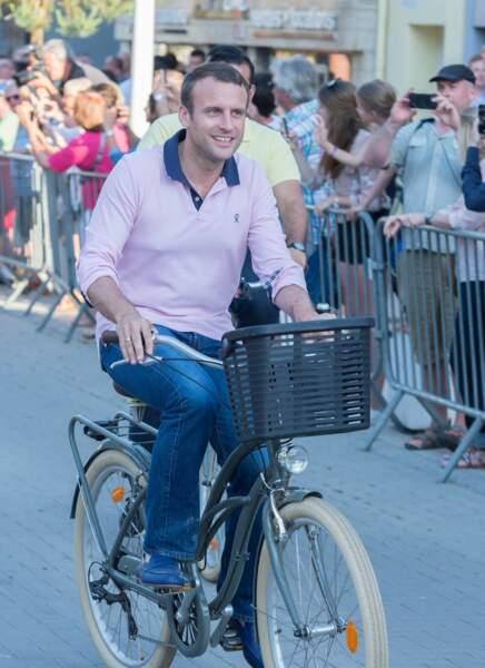 Emmanuel Macron pédale grave