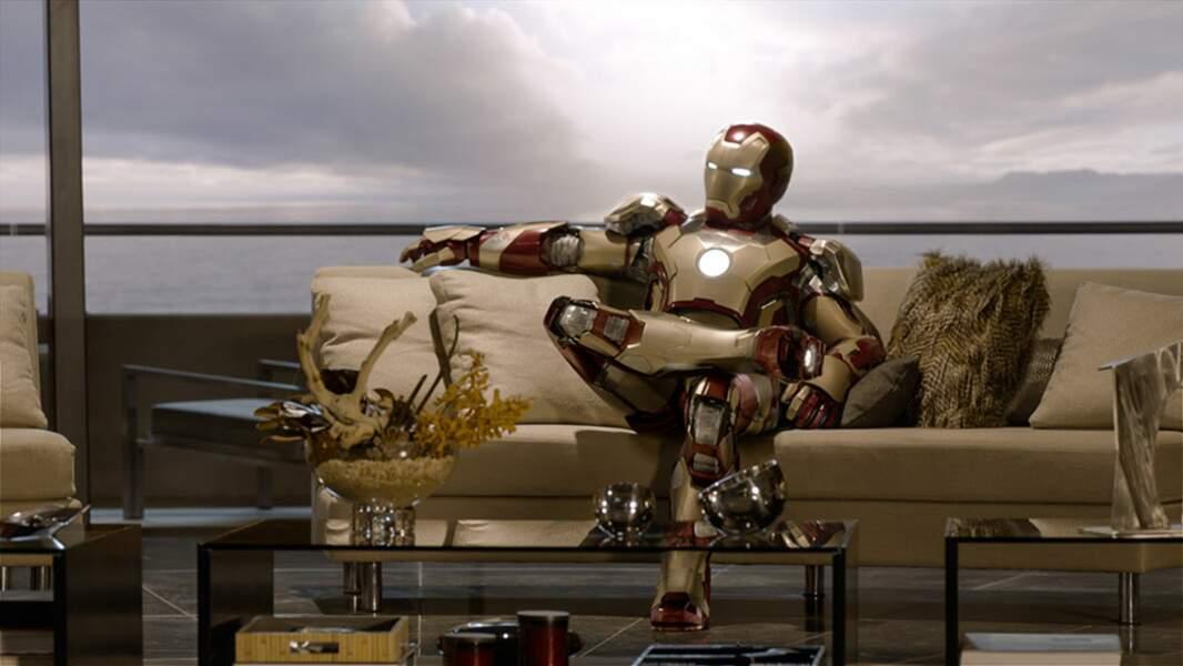 En deuxième position du classement, Iron Man 3 est à l'aise...