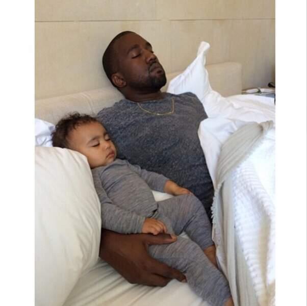 Et on termine avec les deux amours de Kim Kardashian : North et Kanye West
