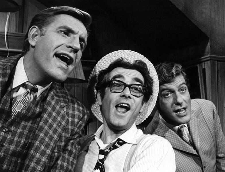 Avec les frères Jerry et Dick Van Dyke sur le célèbre Dick Van Dyke show américain