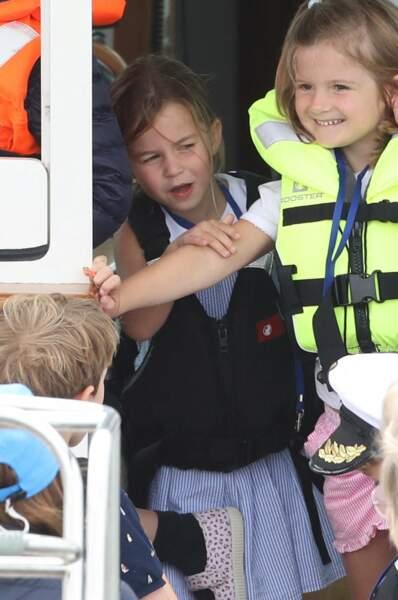 Charlotte, aussi espiègle que son frère, était aussi présente