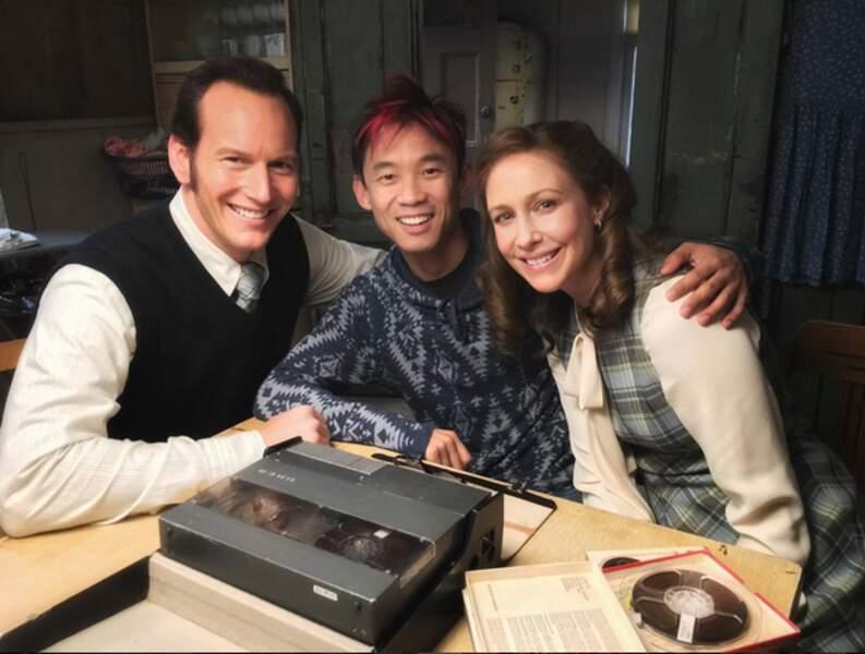 Photo de famille avec Patrick Wilson et Vera Farmiga !