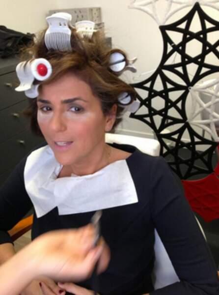 Valérie Bénaïm avant le tournage de Touche pas à mon poste