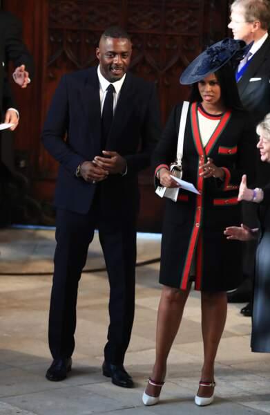 L'acteur Idris Elba et Sabrina Dhowre