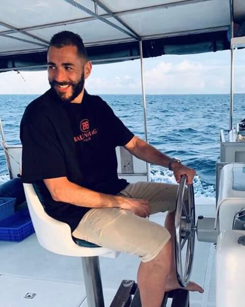 Karim Benzema avait la banane dans les Maldives.
