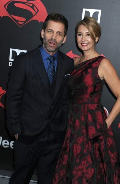 Le réalisateur du film, Zack Snyder, accompagné de Madame
