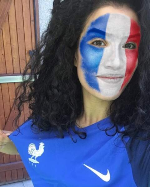 Durant l'Euro 2016, elle était à fond avec les Bleus !