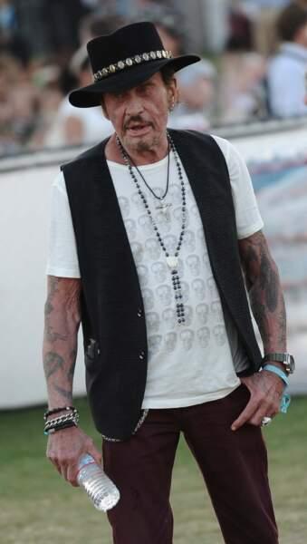2015 : au festival de musique de Coachella, il ressort son chapeau de cow-boy