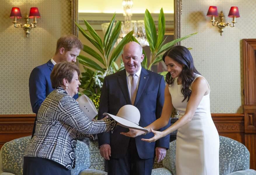 Le prince Harry et Meghan Markle ont été reçus par le gouverneur général d'Australie Peter Cosgrove et son épouse