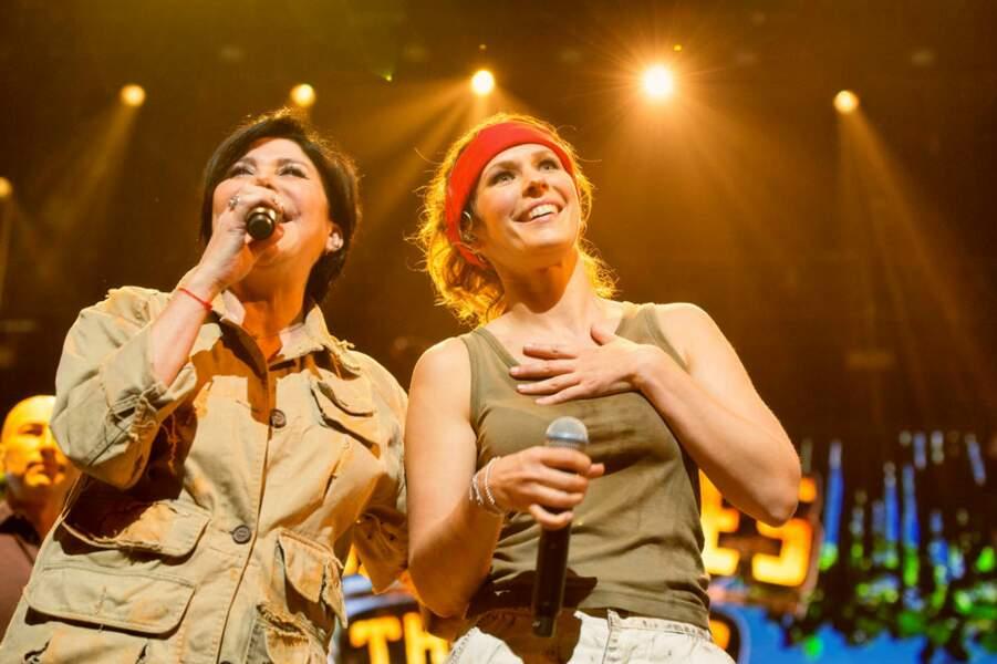 Liane Foly et Lorie Pester, tout sourire