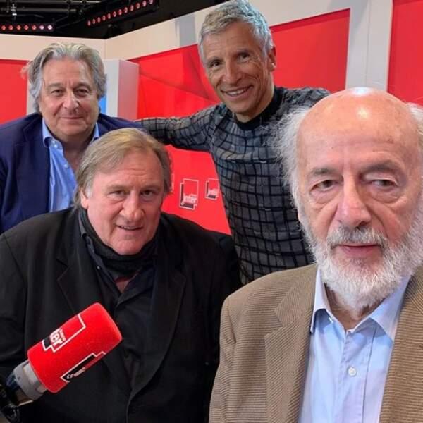 Nagui, Christian Clavier, Gérard Depardieu et Bertrand Blier nous sortent une photo pochette d'album...