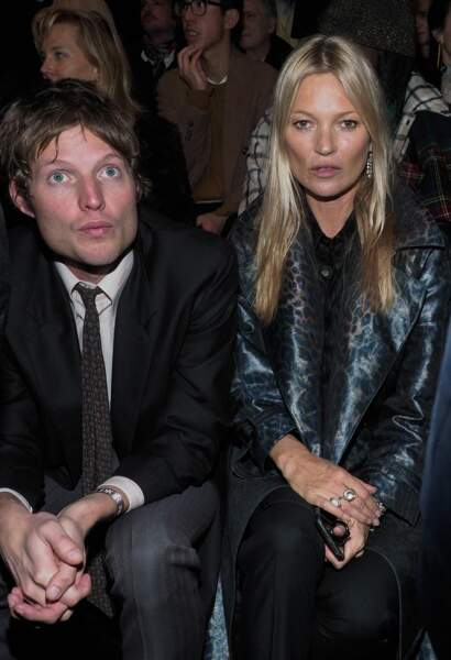 Kate Moss et son petit ami, le comte Nikolaï von Bismarck, au défilé Dior
