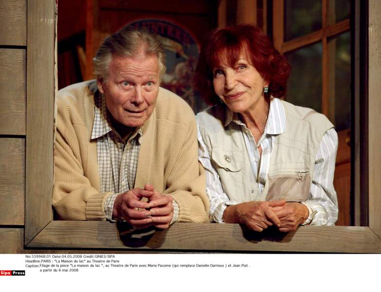 """Avec Jean Piat dans """"La Maison du lac"""" au théâtre de Paris en 2008"""
