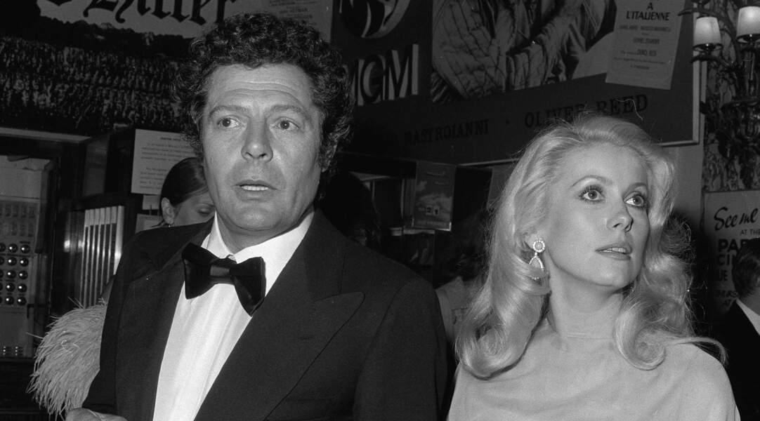 Catherine Deneuve et Marcello Mastroianni, décédé le 19 décembre 1996.