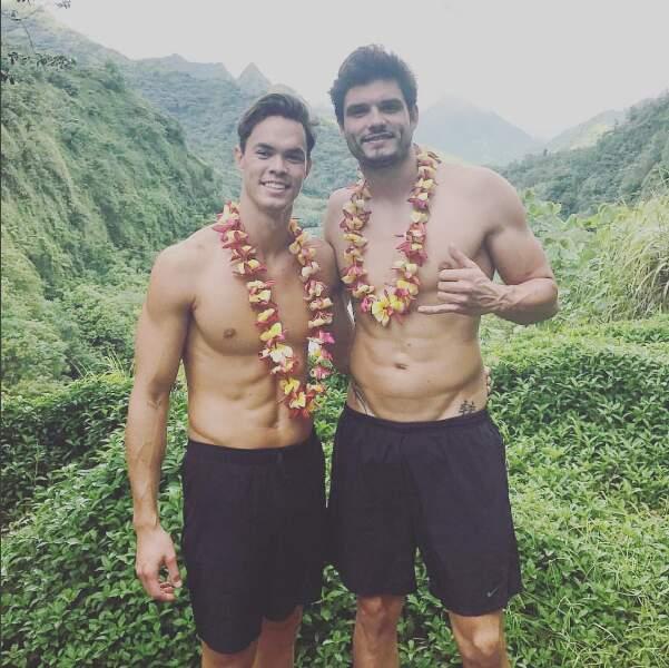 On aime beaucoup la randonnée torse nu. N'est-ce pas Florent Manaudou ?