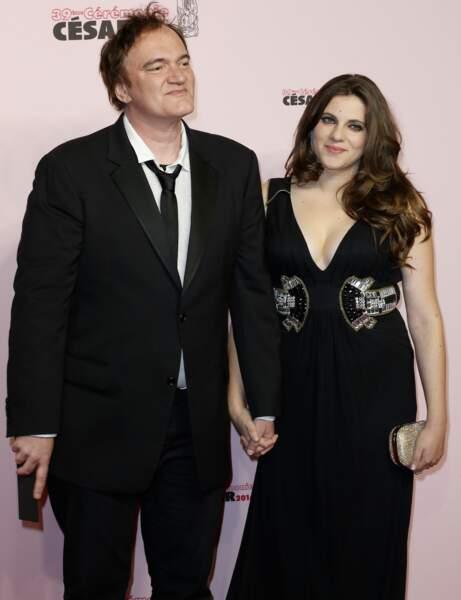 Quentin Tarantino, accompagné, est venu remettre un César d'honneur à Scarlett Johansson