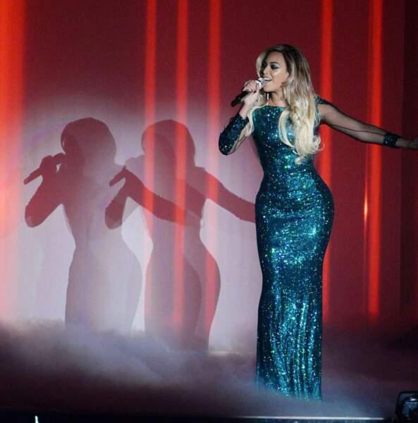 Le public a eu droit à une prestation surprise de la femme de Jay-Z. Les chan-ceux !