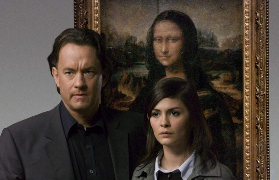 "Audrey Tautou avec Tom Hanks dans ""Da Vinci Code"""