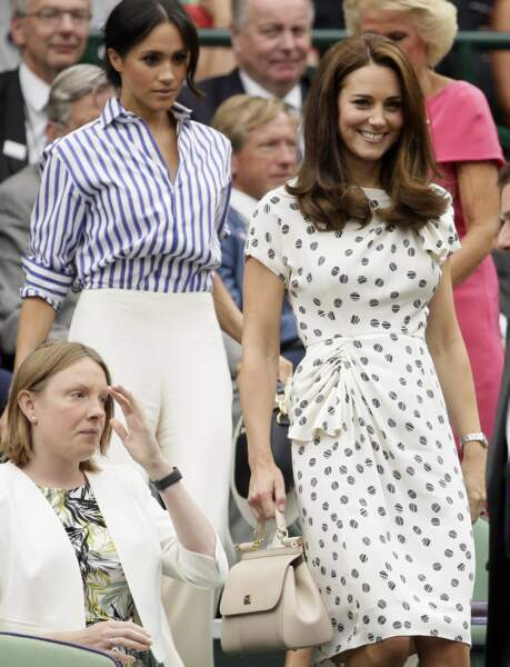 Meghan et Kate ont pris place ensemble dans la tribune royale de Wimbledon