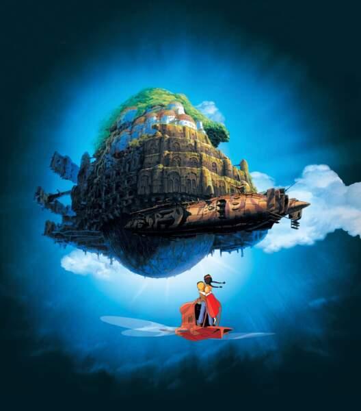 Le Château dans le ciel (1986) : un conte mettant en scène des enfants dans un bien étrange bâtiment