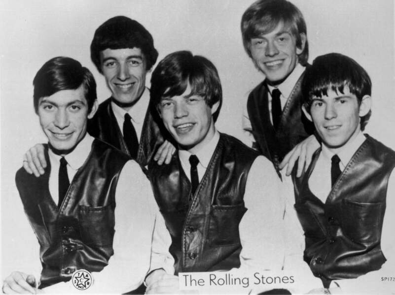 Charlie Watts, Bill Wyman, Mick Jagger, Brian Jones, Keith Richards des Rolling Stones en 1962