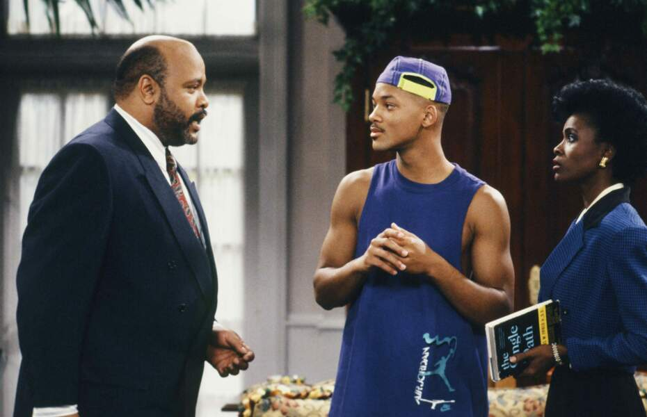 Oncle Phil (James Avery), Will (joué par Will Smith) et Vivian Banks (Janet Hubert-Whitten)