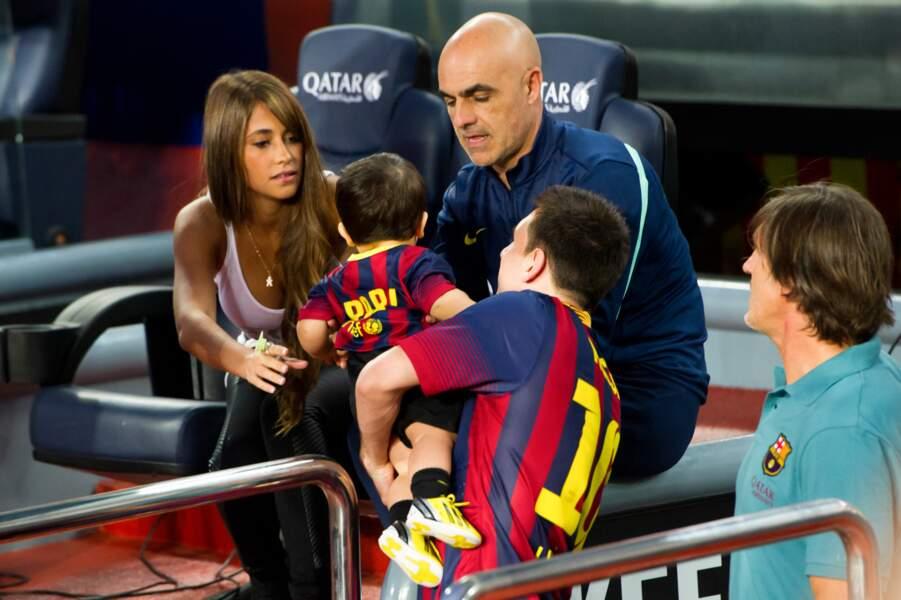 Le petit garçon est très vite devenu le premier supporter (avec maman Antonella) de la Puce Messi