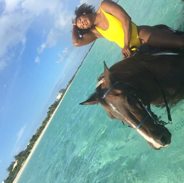 Faites du cheval, sous la pluie ou dans la mer.
