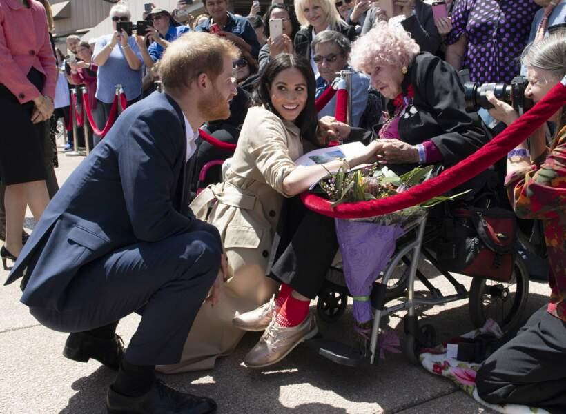 Le prince Harry et Meghan Markle rencontrent Dafney Dunne, 97 ans