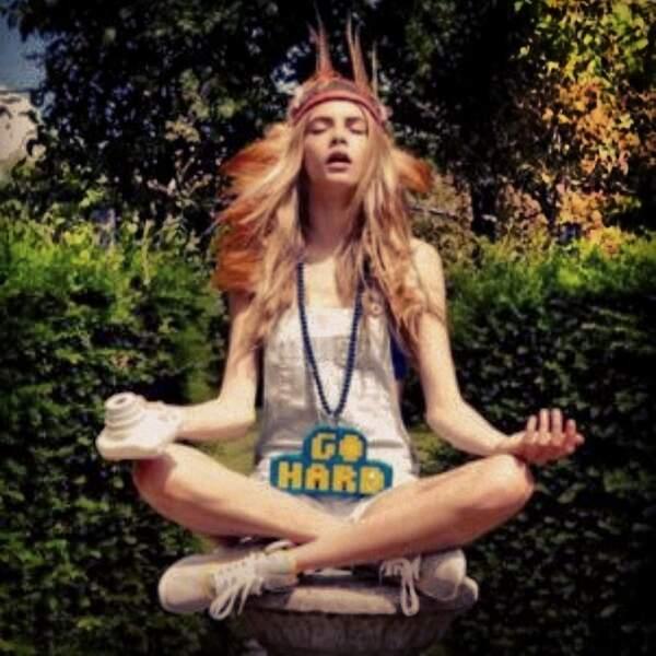 Même si des fois elle se pose pour méditer.