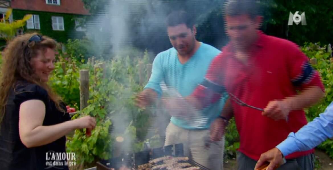 Il a pu profiter du petit barbecue organisé par Marc, Gilles et Nicolas
