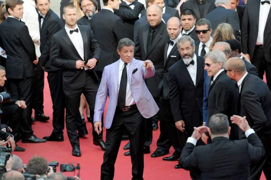 """Sylvester Stallone : """"Tu te moques de mon costard violet, toi ?"""""""