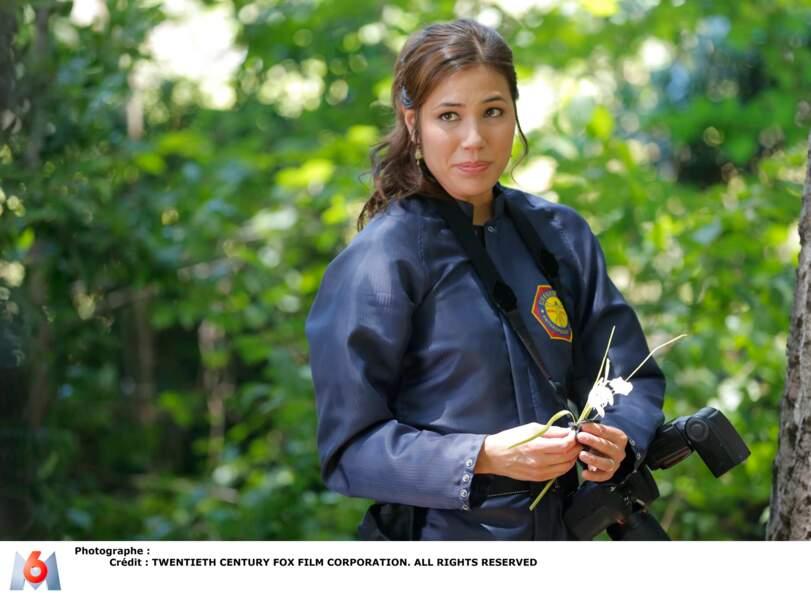 Michaela Conlin était Angela Montenegro, celle qui reconstituait le visage des victimes sous forme d'hologrammes