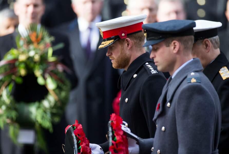 Le prince Harry et le prince William rendent hommage aux soldats tombés durant la Grande Guerre