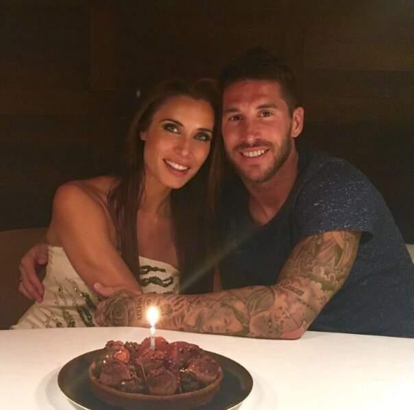 Le footballeur Sergio Ramos et Pilar Rubio ont fêté leurs noces de coton.