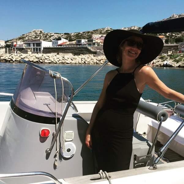 Alexandra Lamy rejoue La Dame en Noir à Cagnes-sur-Mer.