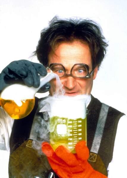 Robin Williams en professeur fou dans Flubber en 1998