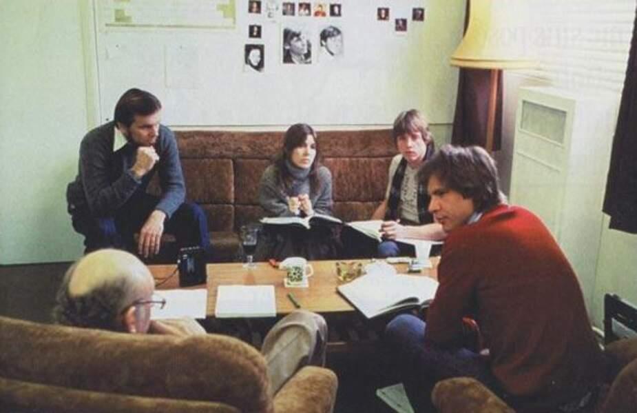 Gary Kurtz, Carrie Fisher, Mark Hamill, Harrison Ford et Irvin Kershner