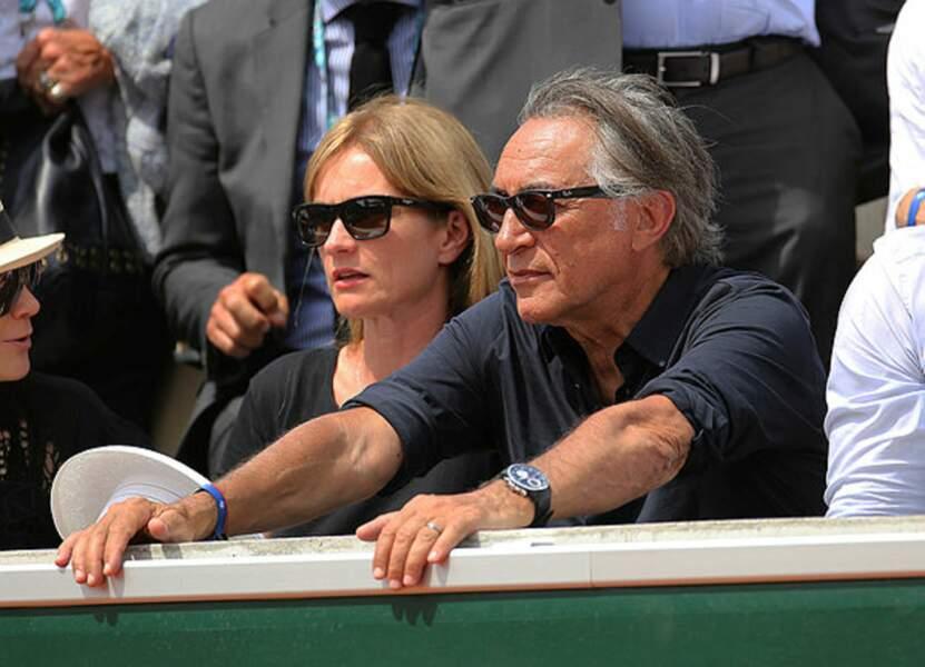 Richard Berry et sa femme Pascale Louange concentrés sur les matchs