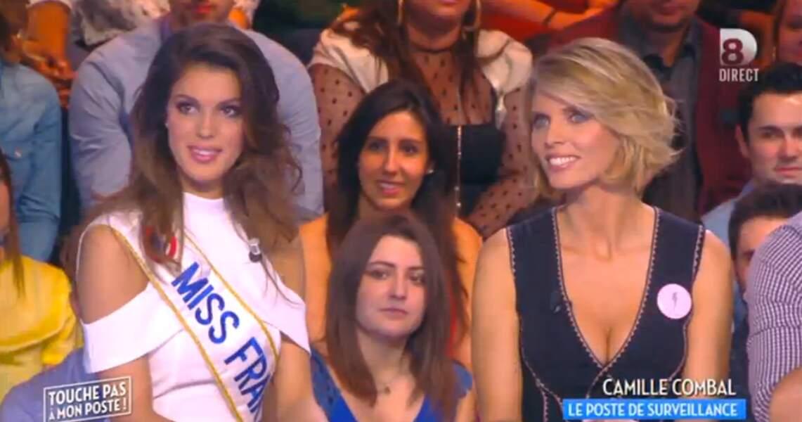 Alerte décolletés ! Voici d'abord celui de Sylvie Tellier, directrice générale de la société Miss France...