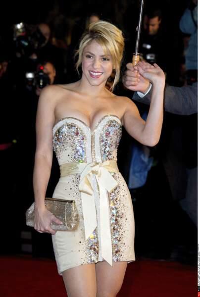 Shakira n'a pas eu peur de se mouiller pour les NRJ Music Awards: 7 trophées dont un d'honneur en 2012.