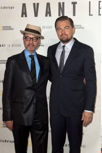Hier soir, Leonardo DiCaprio était de passage à Paris pour présenter son film documentaire Before the Flood